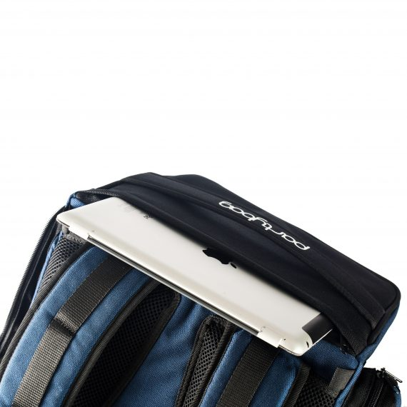 zaino cassa partybag - particolare tasca per Ipad