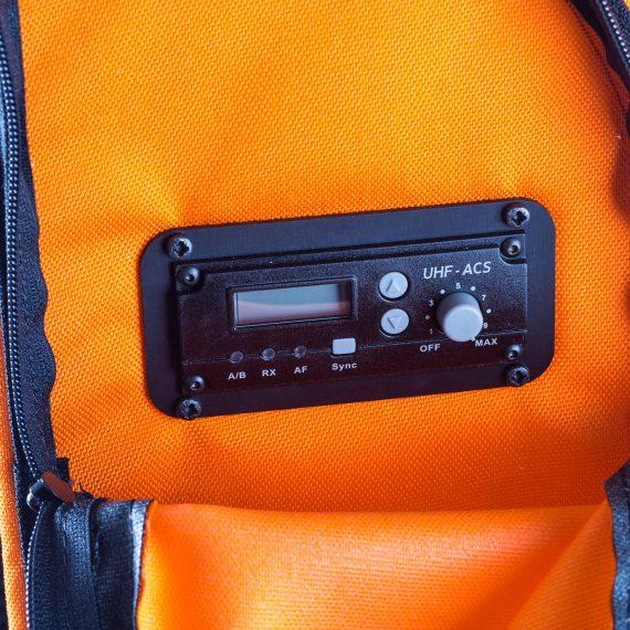 Zaino cassa Partybag con modulo ricevitore UHF